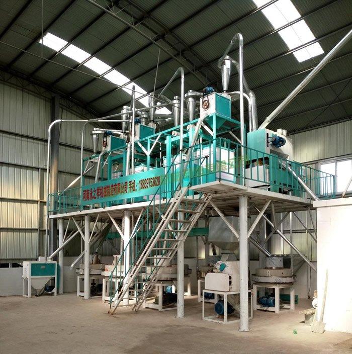 湖北襄樊石磨面粉机安装调试成功