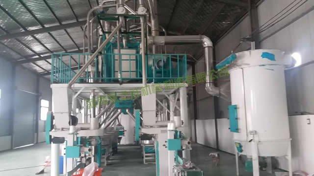 河南开封日加工20吨石磨面粉设备